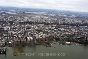 Vista aérea de la zona de Hoboken, New Jersey